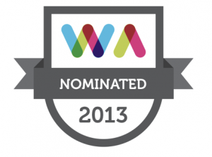 2013 Web Awards Nominated