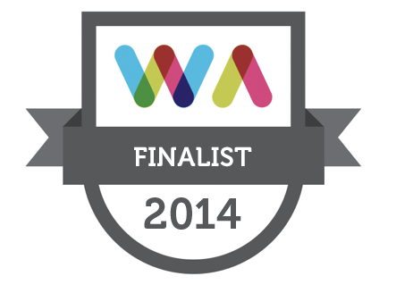 Finalist in the 2014 Web Awards