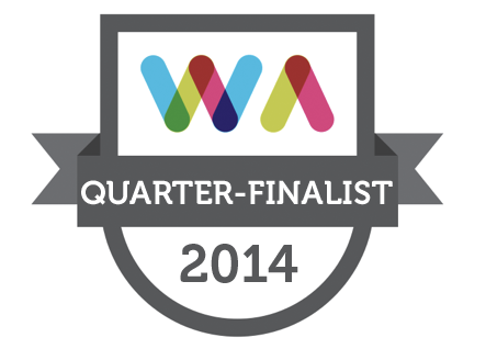 Quarter Finalist in the 2014 Web Awards